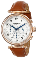 Akribos XXIV Chronograph Naisten kello AK630TN Valkoinen/Nahka Ø40 mm
