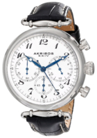 Akribos XXIV Chronograph Naisten kello AK630BK Valkoinen/Nahka Ø40 mm