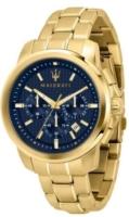 Maserati Successo Miesten kello R8873621021 Sininen/Kullansävytetty