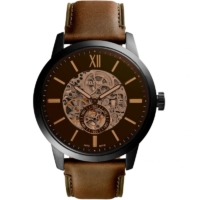 Fossil Townsman 48mm Automatic Brown Leather