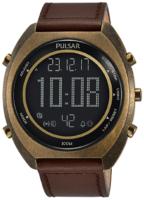 Pulsar X Miesten kello P5A030X1 LCD/Nahka Ø44.5 mm