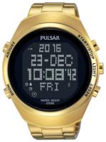 Pulsar X Miesten kello PQ2056X1 LCD/Kullansävytetty teräs Ø46 mm