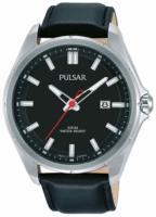 Pulsar 99999 Miesten kello PS9557X1 Musta/Nahka Ø44 mm