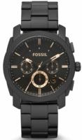 Fossil Machine Miesten kello FS4682IE Musta/Teräs Ø42 mm